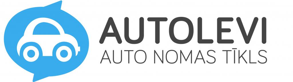 Autolevi auto nomas tīkls logo, savstarpējā auto noma, peer to peer, p2p car sharing