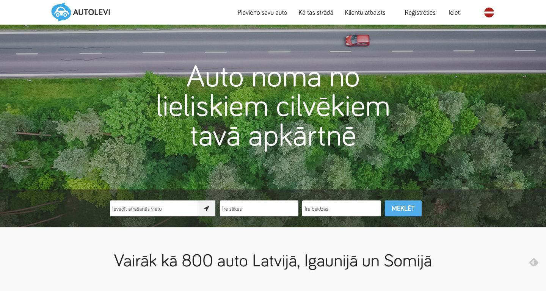 Autolevi jaunā mājaslapa